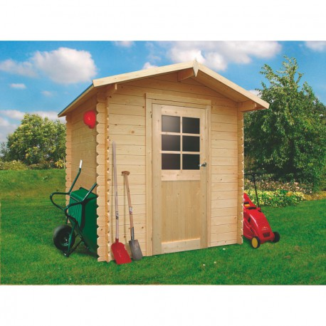 Abri de jardin bois massif 19mm Essen porte simple 3,92m² SOLID