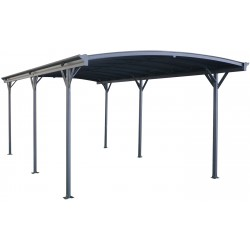 Carport en aluminium anthracite 3x6,47m et polycarbonate 6mm X-METAL