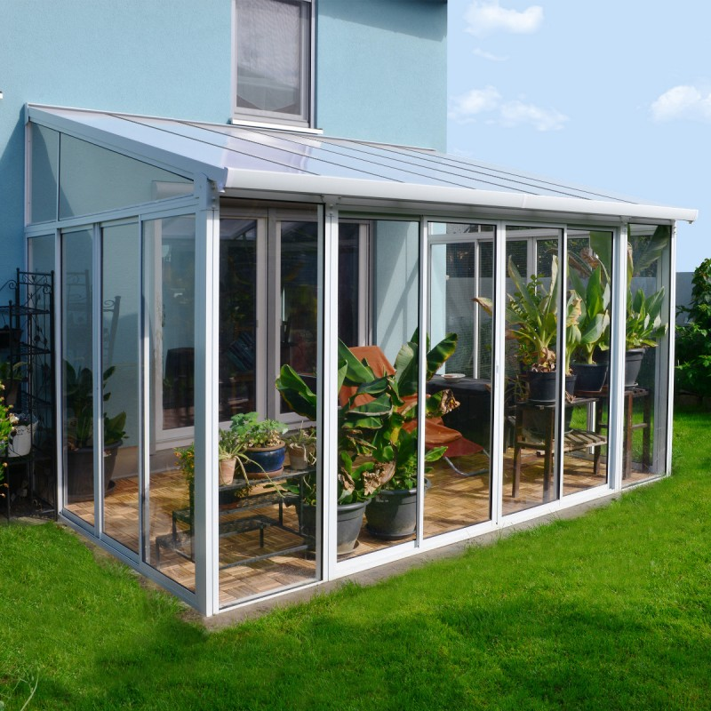 Acrylic greenhouse panels push vacuum cleaner